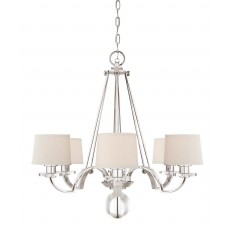 Quoizel Uptowntr 6 Light Imperial Silver Chandelier with Shades