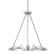 Quoizel Uptowntr 6 Light Imperial Silver Chandelier