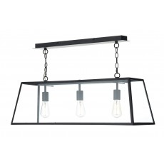 Dar  Academy 3 Light Black Pendant Light