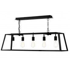 Dar  Academy 5 Light Black Pendant Light
