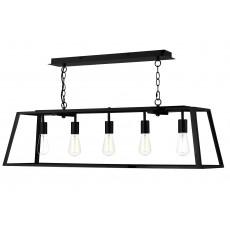 Dar  Academy 5 Light Black Pendant Light