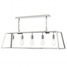 Dar Lighting Academy 5 Light Stainless Steel Pendant