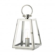 Dar Lighting Acre Table Lamp Stainless Steel IP44