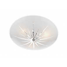Dar  Albany 3 Light Polished Chrome Semi Flush White Light