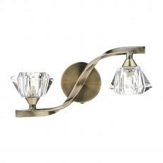 Dar Lighting Ancona Double Antique Brass Wall Bracket