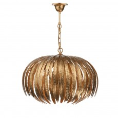 Dar  Atticus 5 Light Pendant Gold