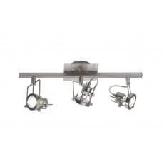 Dar  Bauhaus 3 Light Bar Satin Chrome GU10 complete with Bulbs