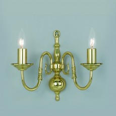 Impex Flemish Wall Light Polished Brass