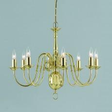 Impex Flemish Chandelier. Polished Brass
