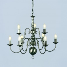 Impex Flemish Chandelier Pewter