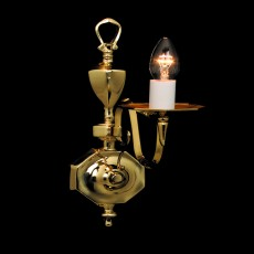 Impex Ghent Brass Wall Bracket Wall 1 Light