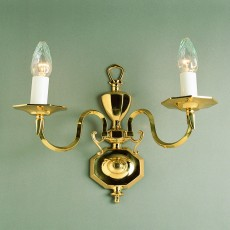 Impex Ghent Brass Wall Bracket Wall 2 Light