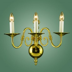 Impex Antwerp Brass Flemish Wall Light