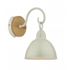 Dar  Blyton 1 Light Wall Bracket complete with Painted Shade