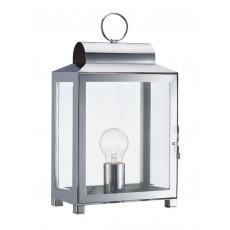 Dar  Box Rectangle Polished Chrome Table Lamp Light