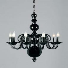Impex Salas Glass Chandelier Black