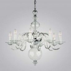 Impex Salas Glass Chandelier Clear