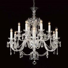 Impex Ostrava Lead Crys 6+6 Light Chandelier