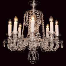 Impex Karvina Crystal 8 Light Chandelier