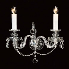 Impex Decin Crystal 2 Wall Light W/Bracket
