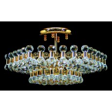 Impex Ancona Hex Crystal Balls Pendant Light Gold
