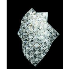 Impex Diamond Cube Lead Crys. Wall Light