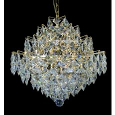 Impex Diamond Cube Lead Pendant Light Crys. Gold