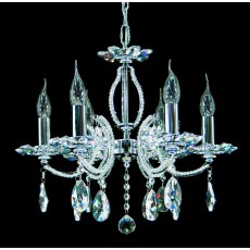 Impex Rouen Lead Pendant Light Crys. Chrome
