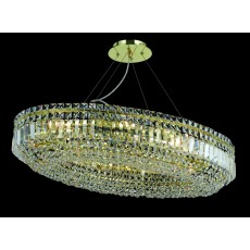 Impex Olovo Lead Pendant Light Crystal Oval Gold