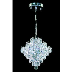 Impex Diamond Lead Crys.Chandelier.Chrome