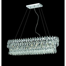 Impex Palermo Oval Lead Crys.Chrome Pendant Light