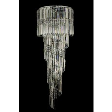 Impex Toronto 14 Light Clear Crys Chrome Pendant Light
