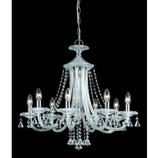 Impex Calgary 8 Light Chrome W/ Crystal Pendant Light