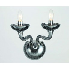Impex Oasis Smoke Glass Chrome Wall Light