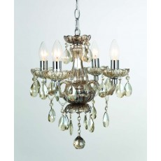 Impex Rodeo 4 Light Champagne Crystal Pendant Light