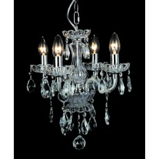 Impex Rodeo 4 Light Clear Crystal Pendant Light