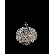 Impex Adaliz 3 Light K9 Crystal Chrome Pendant Light