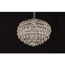 Impex Adaliz 4 Light K9 Crystal Chrome Pendant Light