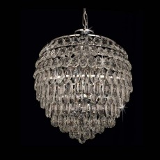 Impex Adaliz 6 Light K9 Crystal Chrome Pendant Light