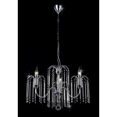 Impex Bette 3 Light Chrome Chandelier