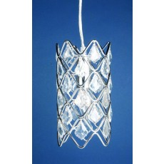 Impex Gem Small One Tier Crys.Chrome Pendant Light