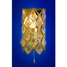 Impex Gem Crystal Wall Light Gold