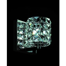Impex Veta Chrome Wall Light Clear K9 Crys
