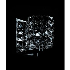 Impex Veta Chrome Wall Light Smoke K9 Crys