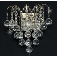 Impex Emmie 2 Light Crys Wall Light Ab