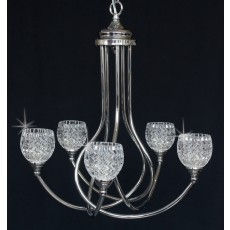Impex Musette 5 Light Pendant Light G9 28W Chrome