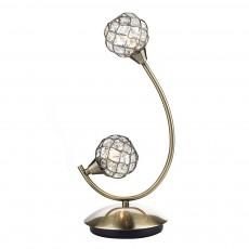 Dar  Circa 2 Light Antique Brass Table Lamp Antique Brass Light