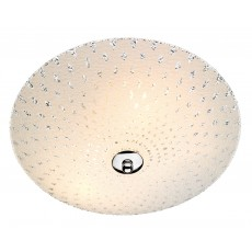 Dar  Clarence 3 Light  White Glass Flush Light