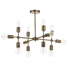 Dar Lighting Code 12 Light Gold Pendant Old
