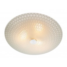 Dar  Colby 3 Light Glass Flush